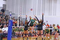 IMG_6883 (SJH Foto) Tags: girls volleyball high school allentown central catholic somerset team teen teenager net battle spike block action shot jump midair