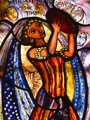 Miriam the Prophetess (Pippa Blackall, 2008) (Simon_K) Tags: west church st suffolk cathedral churches edmond eastanglia burystedmunds edmonds edmundsbury stedmundsbury