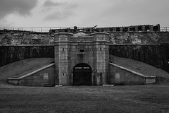 Battery Potter. Sandy Hook, NJ (ryanjw751) Tags: white black beach canon blackwhite newjersey nikon nj bunker sandyhook