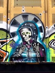 (UTap0ut) Tags: california ca art cali train bench graffiti paint rail cal graff huh freight huher utapout