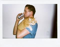 Instax Cat & Man Test (1) (J. Astra Brinkmann) Tags: portrait kori catman mancat