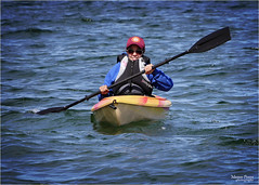 choppy seas and kayaking (marneejill) Tags: life smiling kayak erin jacket kayaking seas choppy