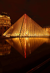 The Louvre Pyramid (JXL7) Tags: light paris reflection night pyramid louvre the