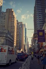 A Commercial Street (Doha Sam) Tags: trip usa newyork film 35mm iso100 nikon fuji kodak manhattan olympus slidefilm scan midtown velvia empirestatebuilding positive analogue xa fe 800 manualfocus pocketcamera nikonscan tungstenbalanced cinemafilm coolscan9000ed 500t 800t cinestill vision3 samagnew smashandgrabphotocom linearscan educationleave wwwsamagnewcom