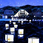 松島流灯会 海の盆の写真