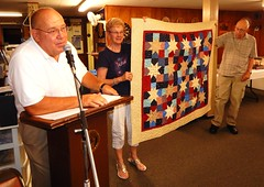 Quilt of Valor Recipient Bart Mosekian far right