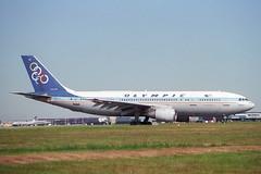 SX-BEH Airbus A.300B4-103 Olympic (pslg05896) Tags: egll lhr heathrow london sxbeh airbus a300 olympic