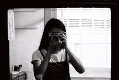 000060 (Lee Sydney) Tags: bw white selfportrait black film girl 35mm canon asian photography mirror blackwhite first malaysia roll penang canonet selfie filmisnotdead q17