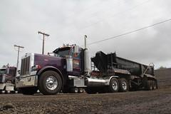 Rojac Trucking (24) (RyanP77) Tags: truck hawaii dump maui semi end pete trucking kw peterbilt truckers kenworth 359 808 379 w900 rojac