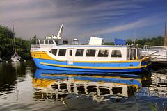 Sink my boat (Tony Shertila) Tags: ri sea sky france water weather river geotagged boats coast brittany europe day view yacht outdoor bretagne vista cruiser waterside fra breton reflction partlycloudy larochebernard bertayn geo:lat=4751845604 geo:lon=230689555