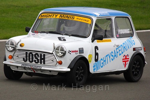 Josh Young in Mighty Minis at Donington Park, October 2015