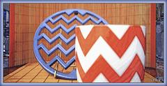ZIG.ZAG DESIGN [Zigzag Graphic VIII] (fotograf1v2) Tags: graphics mug manipulatedimage zigzagmotif bamboomats photobasedcreativity enamelledmetaltrivet