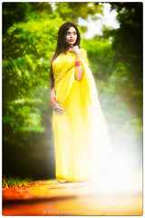 Tripti (ratulchowdhury987) Tags: light summer portrait woman sexy girl beautiful face yellow lady eyes day outdoor gorgeous lips saree