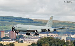 535-93-CN BOEING KC135 TANKER (douglasbuick) Tags: french airport nikon glasgow aircraft military boeing practice airforce approach tanker kc135 d40 egpf 53593cn