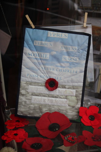 Remembrance quilts.