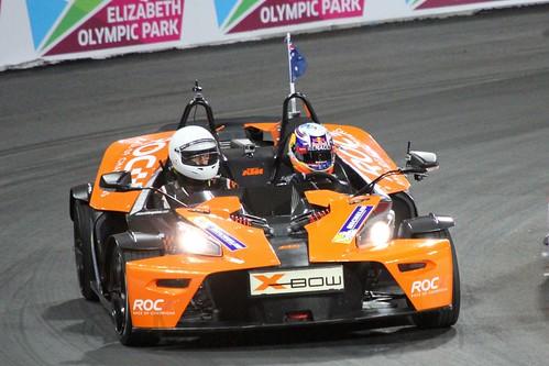 Daniel Ricciardo at The Race of Champions, Olympic Stadium, London, November 2015