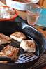 Dinner (Emily1957) Tags: dinner vintage rice fiestaware spatula castironskillet corningware brut ironskillet bluecornflower localhalibut oldspatula