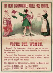 Suffrage campaigning: The Right Dishonourable Double-Faced Asquith, 1916