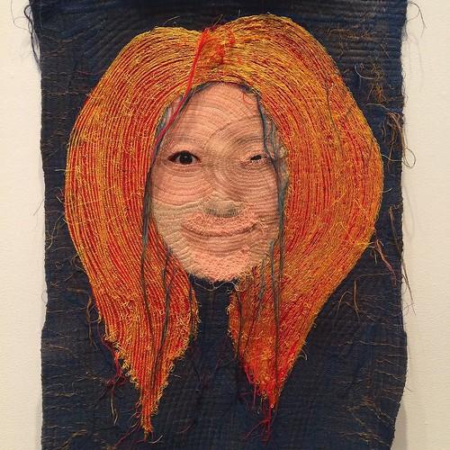 Yoon Ji Seon's Rag Face, an exhibition of sewn photographs. #riadarttour #selfieart