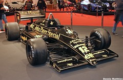 Lotus F1 car (The Rubberbandman) Tags: show old england black english classic car race vintage john germany one 1 essen lotus britain great f1 racing player renault special german gb formula vehicle motor senna ayrton jps t98