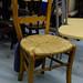 Wooden wicker chair seat