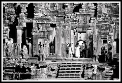 Angkor Thom - the archways (calamur) Tags: architecture cambodia buddhist religion temples siemreap buddhisttemple angkorthom harinicalamur nikond7000