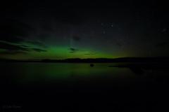 Faint Northern lights