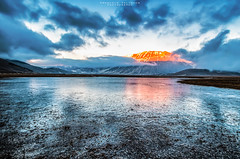 The Ice (emanuelezallocco) Tags: park sunset mountain ice grande tramonto village confine national marche umbria norcia ghiaccio castelluccio pian sibillini perduto vettore lenticchia