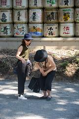 DSC_5898 (SleepingSeasons) Tags: street travel shadow woman japan japanese tokyo nikon women asia barrels candid hats streetphotography drop sake catch fullframe meiji clumsy meijijingu mottled meijishrine dropping japanesewomen d610 sakebarrels nikond610