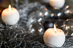 Candles on the Silver I (ToDoe) Tags: silver advent candle adventwreath wreath adventskranz kerzen candels silber christmaswreath