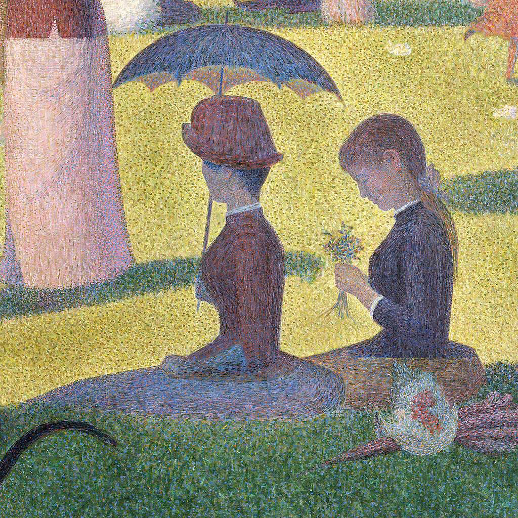a sunday on la grande jatte Georges seurat, a sunday on la grande jatte – 1884, 1884-86, oil on canvas, 81-3/4 x 121-1/4 inches (2075 x 3081 cm) (the art institute of chicago).