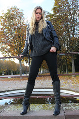 Zsa Zsa 19 (The Booted Cat) Tags: sexy girl leather buffalo model highheels boots jeans blonde heels tight