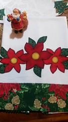 Pano de Prato (Criao Exclusiva da Ane) Tags: flores natal patchwork cozinha aplicao decoraonatalina apliqu patchapliqu panoeprato