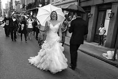New Orleans wedding (Timothy Neesam (GumshoePhotos)) Tags: street wedding blackandwhite bw fuji neworleans streetphotography celebration fujifilm nola weddinggown xt1