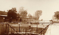 Canal, Portage Locks at High Water, 10-11-1911