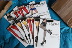 Christmas Parcel from Cervin (SSSH960 Nylons Collector) Tags: stockings noel polkadots bas couture nylons cervin seamed rht mouchete reinforcedheeltoenylons
