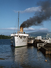 'Maid of the Loch' (Bows) at Balloch Pier.  Jul'78. (David Christie 14) Tags: balloch lochlomond maidoftheloch