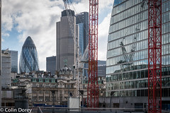Moorgate-1.jpg (Colin Dorey) Tags: willoughbyhighwalk cityoflondon city london architecture uk buildings building structure cranes skyline skyscraper gherkin thegherkin tower42 natwesttower buildingsite