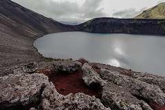 Blhylur (Blue Pool) or Hnausapollur crater lake, Iceland (Sigmundur Andresson (1.4 million+ views-Thank you!) Tags: img4862 sigmundurandresson canoneos5dmarkii canonef14mm128liiusm bluepool litlavti iceland islandia tjrvafellspollur crater lake water volcano travel blhylur landscapes nature landscape