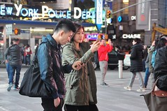 Mostly Asian Times Square Monday in October (zaxouzo) Tags: timessquare nikond90 monday october people public streetstyle street asian 2016 candid