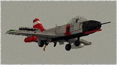 SAI Shachaf (Lego Pilot) Tags: lego ldd povray plane fighter jet samaria sai shachaf prototype aircraft