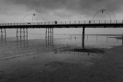 Autumn on the Pier (tabulator_1) Tags: southportpier blackwhite blackandwhite
