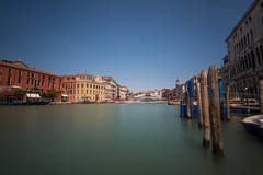 - Wraped Bridge - (Mr. LookUP) Tags: venice colorful colors unique italy wideangle canon 5dmarkiii 1740mm water longtimeexposure longshutterspeed watching photography gondolas parked sky cloudless urbanlandscape