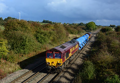 66144 tnt 66002 work 3j42 peterborough lip to peterborough lip via leicester seen at brentingby nr melton mowbray (I.Wright Photography over 2 million views thanks) Tags: 66144 tnt 66002 work 3j42 peterborough lip via leicester seen brentingby nr melton mowbray rail hea treatment head rhtt water cannon fea flats jets