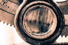 Sextant (Alexander P.F. Stijlaart) Tags: sepia sextant gear brass old sailing celestial canon 7d mkii macro bokeh dof