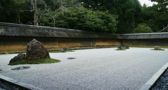 The Rock Garden of Ryoan-ji Temple - UNESCO World Heritage Site (maco-nonchR(on/off)) Tags: kyoto  garden temple ryoanji  unesco unescoworldheritagesite zen   landscapegarden composition whitesand  kioto lowangle low manual allmanual