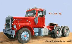 Brockway 360TL Colorized (gdmey) Tags: brockway huskie colorized trucks transportation