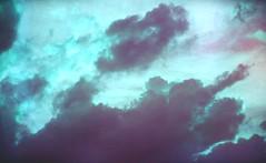 Neon Heaven (Sea of Silence) Tags: sky clouds outdoors heaven analog canon film light lofi noise purple turqoise