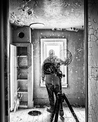 Reflection (I saw_that) Tags: urbex reflection selfie mirror window cameo camera tripod d4s cool