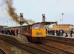 Smokey Skies at Derby (Chris Baines) Tags: 1015 western champion departing derby ecs off maybach yorky tour york
